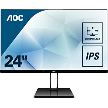 "AOC 24V2Q – Monitor de 24"" Full HD (IPS, Resolución 1920 x 1080, Freesync Flickerfree, Lowblue Light, HDMI, Displayport), Negro: Aoc: Amazon.es: Informática"