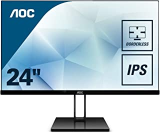 "AOC 24V2Q – Monitor de 24"" Full HD (IPS, Resolución 1920 x 1080, Freesync Flickerfree, Lowblue Light, HDMI, Displayport), Negro"
