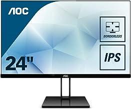 """AOC 24V2Q – Monitor de 24"""" Full HD (IPS, Resolución 1920 x 1080, Freesync Flickerfree, Lowblue Light, HDMI, Displayport), Negro"""