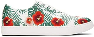 Kenneth Cole New York Womens KLS8111SO Kam Palm Print Lace-up Sneaker Multi Size: 6.5