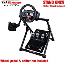 GT Omega Apex Racing Wheel Stand for Logitech Fanatec Clubsport Thrustmaster Gaming Steering Wheel Pedal & Shifter Mount, TX T500 T300 G29 G920 PS4 Xbox Foldable Tilt-Adjustable for Racing Control