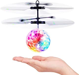 Anda Flying Ball, Remote Control Flying Toy, Children's Toy, Infrared Induction Helicopter Drone, Colorful Shiny LED Lights and Children, Indoor and Outdoor Games (Flying Ball)