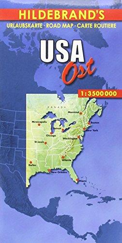 Hildebrand's Urlaubskarten, USA, Ost (Hildebrand's USA maps)