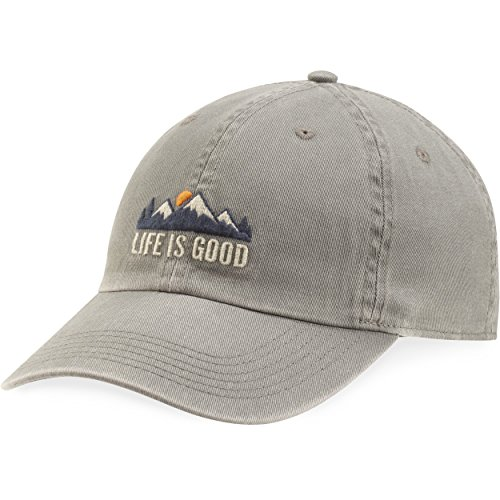 Life is Good Adult Chill Cap Baseball Hat, Mountains Slate Gray, One Size
