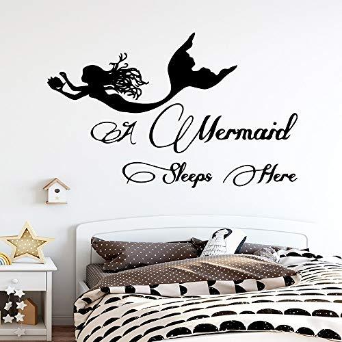 YuanMinglu Heiße schöne meerjungfrau Wand Applique Moderne Mode Aufkleber Wohnzimmer Schlafzimmer Kunst Dekoration 45X72 cm