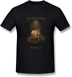 UrsulaA Mens Classic in This Moment Ritual T Shirt Black L