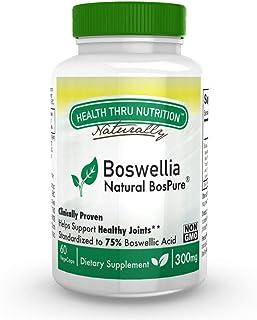 Health Thru Nutrition Boswellia Bospure Non-GMO 300Mg Vege-Capsules, 60Count