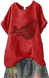 Slyar Camisetas Mujer Manga Corta Basicas Top De Moda De Mujer con Cuello Redondo Y Estampado De Leopardo Camisetas Mujer Manga Corta Divertidas Camisetas Mujer 2019