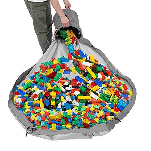 Weskjer Bolsa de Almacenamiento de Juguetes para niños, Alfombra de Juego Organizer para Juegos de niños, Bolsa de Almacenamiento de Juguetes para Lego,Organizador portátil de Juguetes para niños