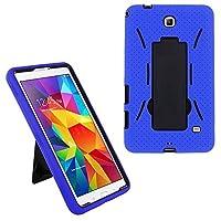 """Samsung Galaxy Tab 47"""" SM - t230ドロップ保護ハイブリッドケースフルボディシリコンプラスチックカバーによって内蔵スタンドとスクリーンプロテクターfeaturing KIQ ambi-0852"""