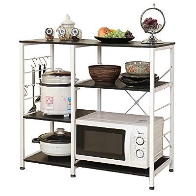 soges Kitchen Baker's Rack Utility Microwave Oven Stand Storage Cart Workstation Shelf from soges
