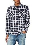 Lee Regular Shirt Camisa, Azul Marino, L para Hombre