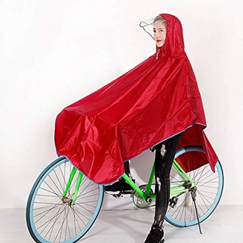 ZXL Waterdichte fietshelm voor mountainbike, alleen voor mannen en vrouwen, voor volwassenen, regencape (kleur: R