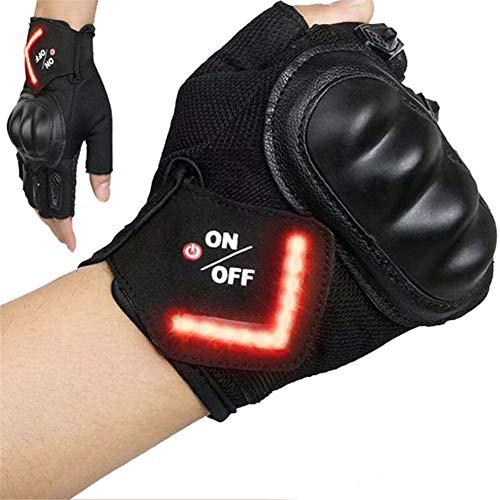 Gelentea Intelligente LED-Blinkerhandschuhe Warnlicht Outdoor Reithandschuhe Herren Damen Fahrrad Outfit Handschuhe für Rennrad