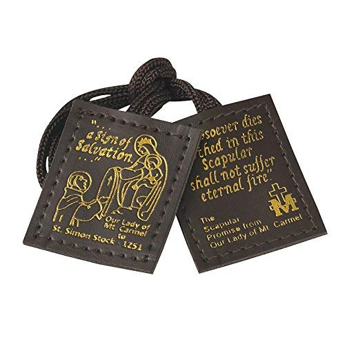 Autom Brown Leather Scapular - 12/pk