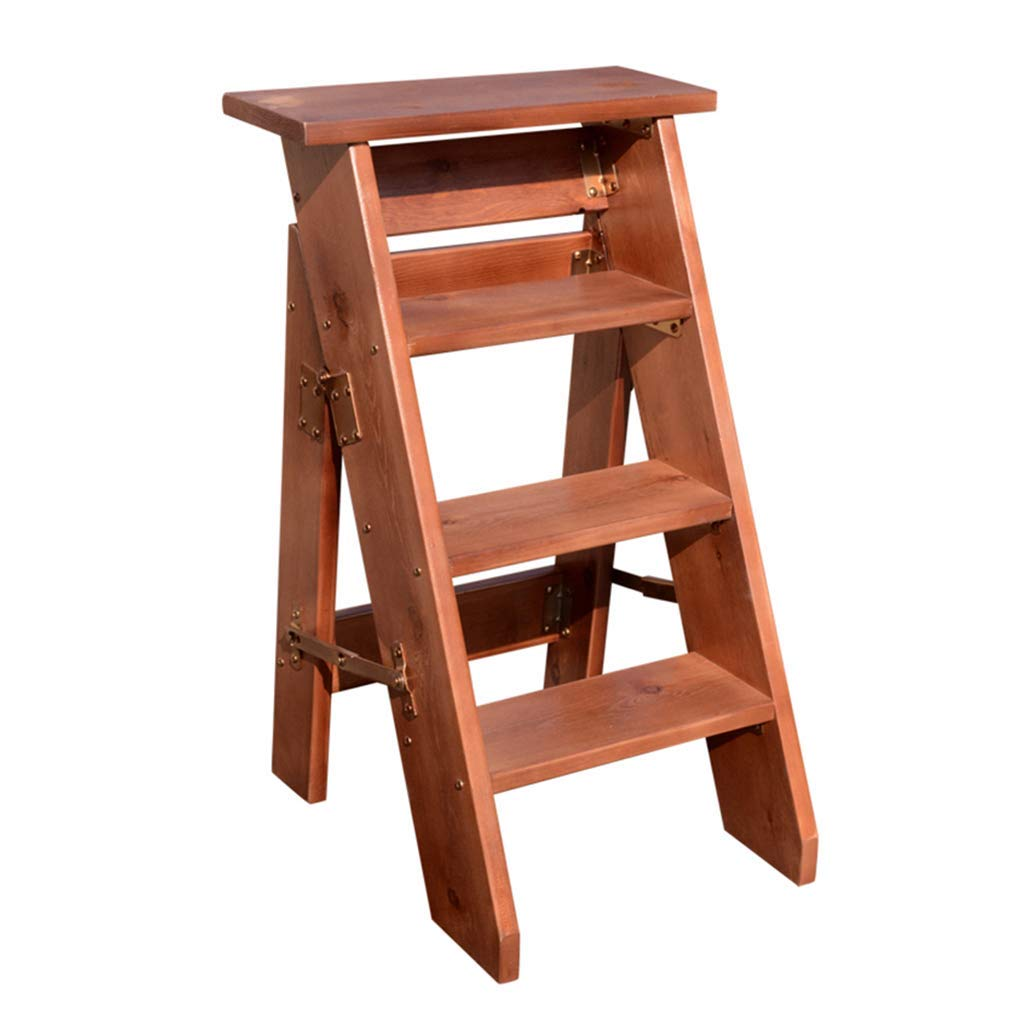 MXZBHEscalera Plegable de 4 escalones, escaleras domésticas para niños y Adultos Escalera de Madera Herramientas de jardinería doméstica: Amazon.es: Hogar