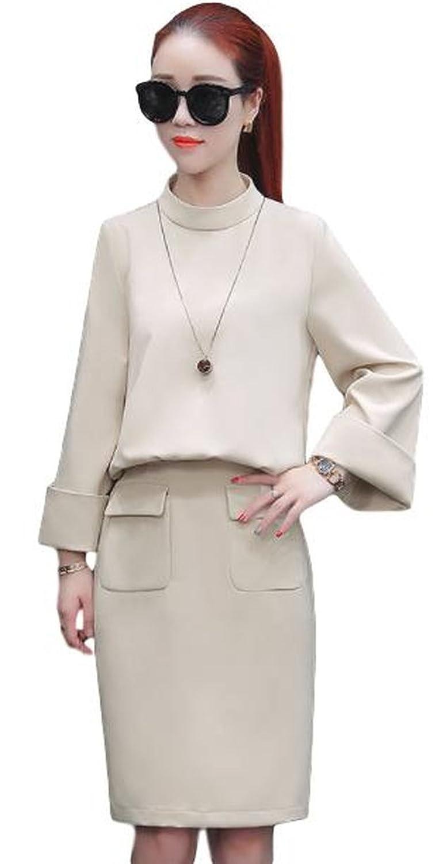 レディース ファッションスーツ スカートスーツ アンサンブル レトロ OL 通勤 オフィス 美脚 脚長効果 セレブファッション