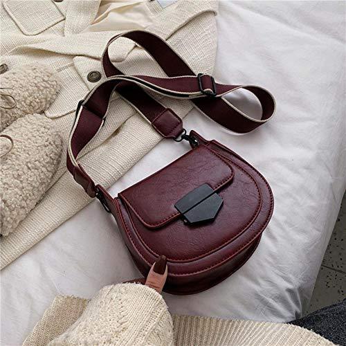 Bvcahosg Damen Satteltaschen aus Leder Mini Borgogna