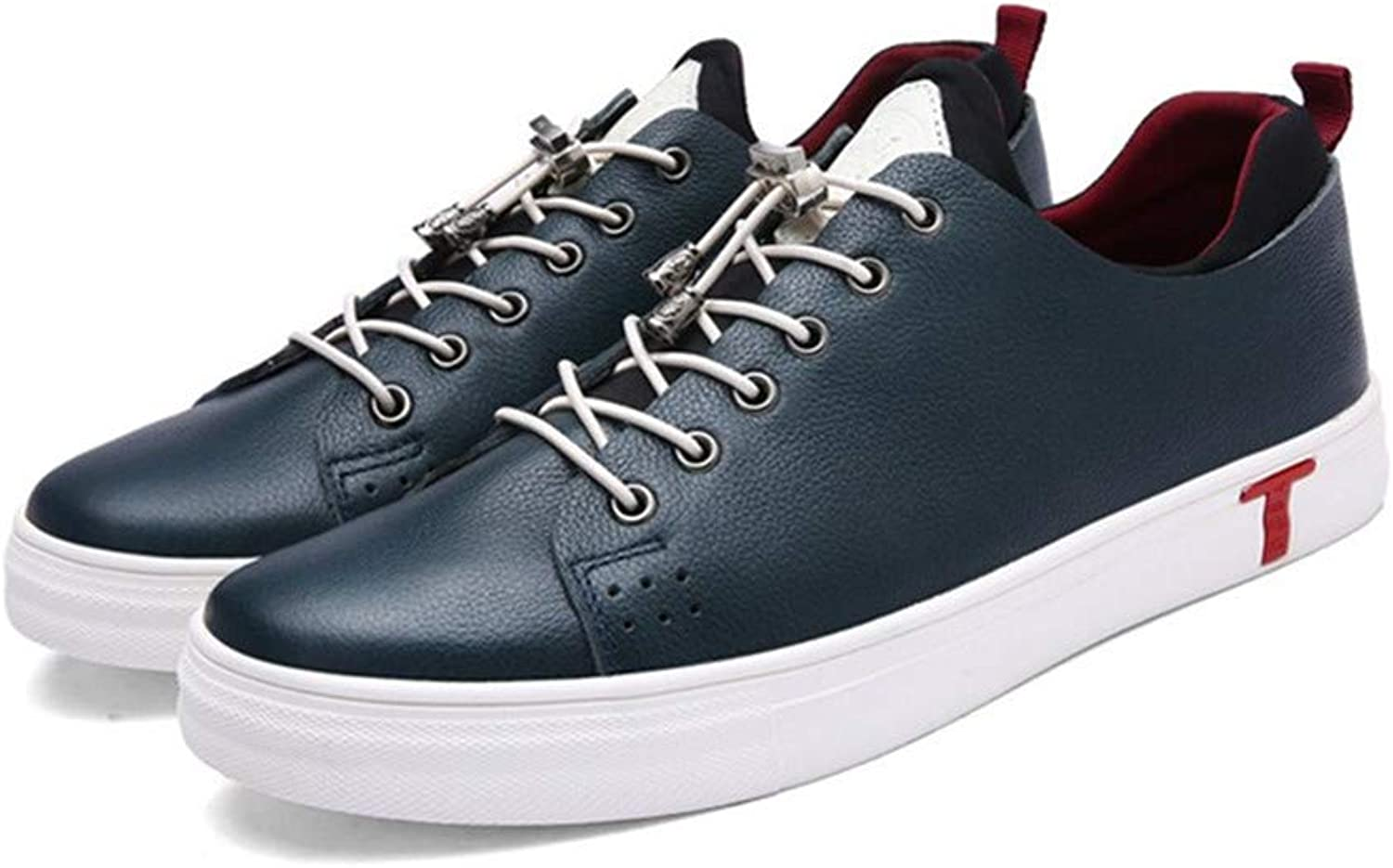 Casual Men's shoes Leather Size 24.0cm to 27.0cm bluee All Seasons Wear Board shoes Leisure