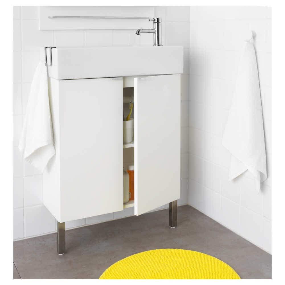 LILLANGEN - Armario lavabo con 2 puertas, color blanco: Amazon.es: Bricolaje y herramientas