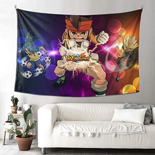 Hdadwy Inazuma Eleven Tapestry Tapiz de pared para dormitorio, salón, techo, decoración para el hogar, 90 x 60 cm