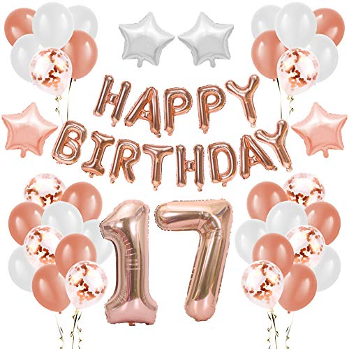 17. Geburtstag Party Dekoration, Zahl 17...