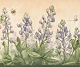 Purple Flowers Bumble Bee Dragonfly Merigold...