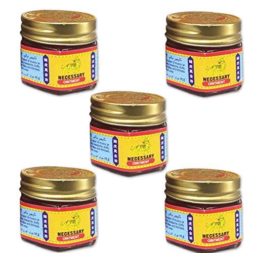 Odoukey Medicamentos para aliviar el ungüento de Hierbas bálsamo de la Crema ungüento del Dolor para los Dolores de Cabeza Dolores musculares Alivio Temporal 5PCS