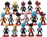 16 Pack Dragon Ball Z Cake Toppers,Goku Figures Cake Toppers Set 3' Dragon Ball Toy Collection Gift