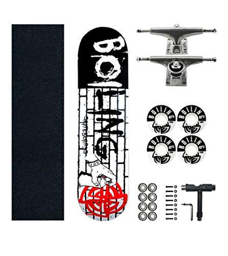 SHENHAI Skateboard Maple Skateboard Anfänger und Maple Tree Skateboard Mystery Mission_Average Code