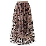 N\P Falda de mujer falda alta falda más damas mujeres