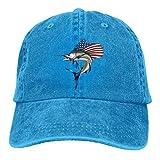 XCNGG USA Marlin Fish Unisex Sombreros de Vaquero Deporte Sombrero de Mezclilla Gorra de béisbol de Moda Negro