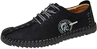 Hzjundasi Winrer Moccasin for Men - Comfy Lightweight Round Toe Shoes Non-Slip Indoor Outdoor Loafer Flats Warm Slippers