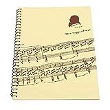Bnineteenteam Taccuino di Musica, Musica Quaderno quaderno a 50 Pagine per Musicisti Quatt...