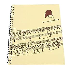 Jacksking 50 Seiten Musiknotation Staff Notebook Musikmanuskript Schreibpapier Staff Paper Songwriting Notebook(Gelbe Musikpartitur)