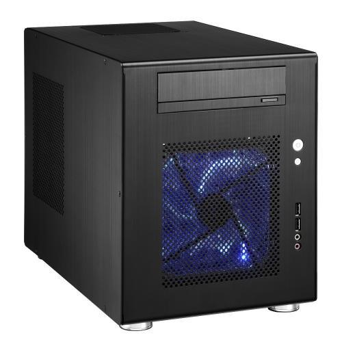 Lian Li PC-Q08B PC Gehäuse (Mini ITX, 1x 5,25 extern, 6X 3,5 intern, 2X USB 3.0) schwarz