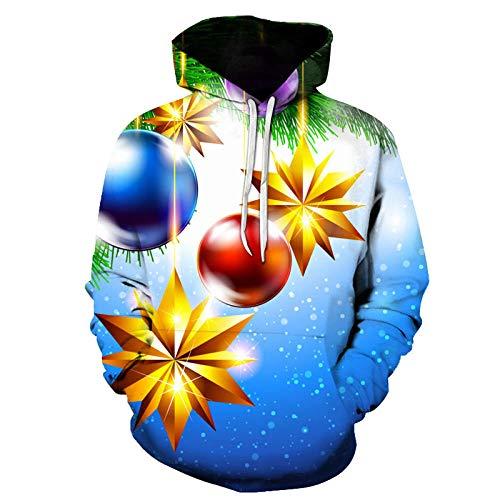 WYxiaobaozi 3D Gedrukt Sweatshirt, Unisex Casual Sweatshirt Hoodie Sweater Met Zakken 3D Gedrukt Kerstmis Geel Awning Paar Jacket-Yx0812-Baseball Uniform Voor Student Top Coat