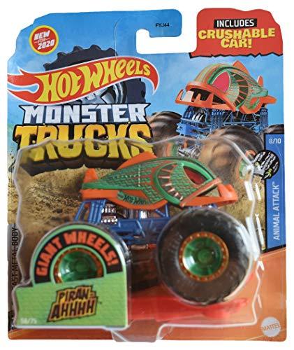 Hot Wheels Monster Trucks 1:64 Scale Piran AHHHH, Crushable Car