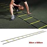 *Gaddrt *Agility - Escala de velocitat ajustable per a entrenament de velocitat, ideal per a futbol, futbol, fitness, entrenament de peus, 8/12 esglaons (A)