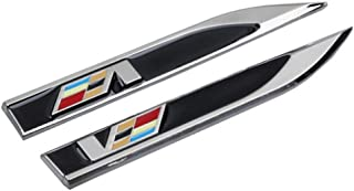 DEFTEN Motion Blade Side Mark Metal Decals for Cadillac