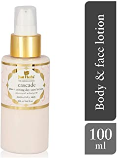 Just Herbs Cascade Moisturizing Day Care Lotion, White, 100ml