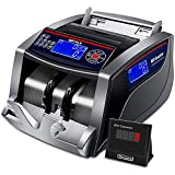 Money Counter with Counterfeit Bill Detection UV/IR/DD/MG/MT, 3 Displays, 5 Modes Add/Batch/Auto/Count/Restart, Bill Counter 1,000 Notes per Minute - (NOT Count Value of Bills)