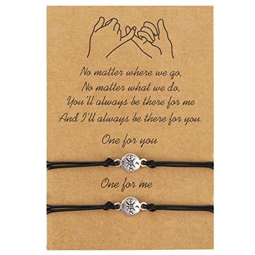 EnjoIt Pinky Promise Distance Bracelets Friendship Couple Distance Matching Bracelets for Women Teen Girls C2252