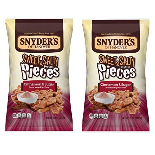 Snyder's of Hanover Pretzel Pieces, Sweet & Salty Cinnamon & Sugar, 10 Oz Pack of 2