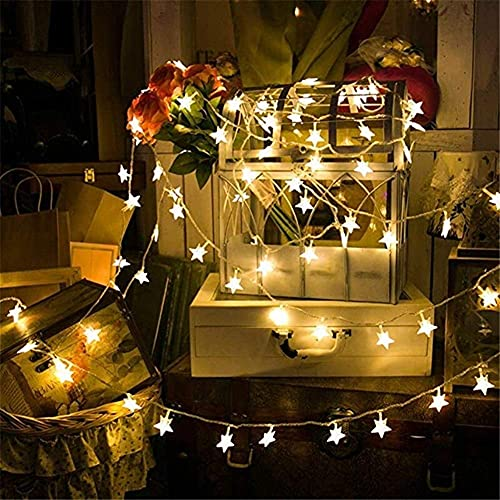 Fairy String String Lights Decoration Lights 10M 80LEDs 3AA Battery Powered STAR Shaped Theme LED String Fairy Lights Christmas Holiday Wedding Decoration party Lighting