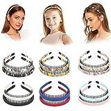 12Pcs Plastic Headbands for Women with Teeth Comb Elastic Plain Hair Bands Headbands for Girls Accessories