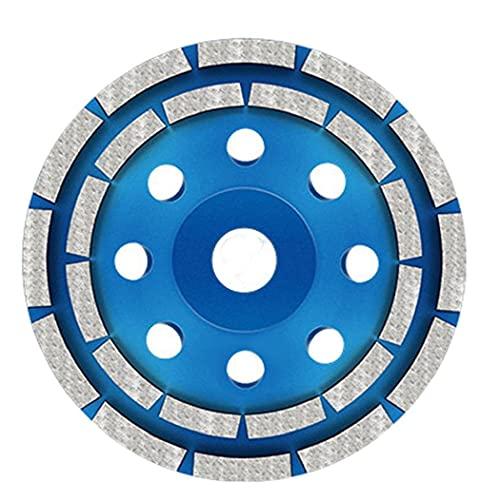 Copa Muela doble fila 125mm Hormigón de Altas Prestaciones diamante de piedra amoladora de disco, consumibles durable de la herramienta y accesorios