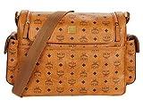 MCM Klassik Visetos Diaper Bag Cognac One Size