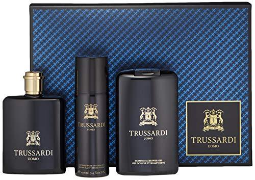Trussardi 3 Piece Uomo Eau de Toilette Spray Gift Set for Men