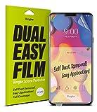 Ringke Dual Easy Film [2 Stück] Kompatibel mit LG V40 ThinQ Schutzfolie Hohe Auflösung [Wischfest Beschichtung] Einfache Befestigen [Hülle Kompatibel] LG V 40 ThinQ Bildschirmschutz Folie Full Cover